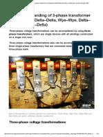Easy Understanding of 3-Phase Transformer Connections (Delta–Delta, Wye–Wye, Delta–Wye and Wye–Delta) _ EEP