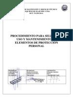 Uso y Mantenimiento de Los EPP