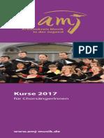 Amj-kurse Chorsaengerinnen 2017