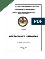 SILABO Operaciones Unitarias 2017 - I