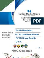 NATION MEDIA GROUP Investor Briefing Presentation 26-7-2017