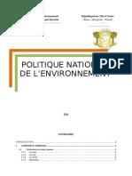 Politique Nationale+de l'Environnement de CI