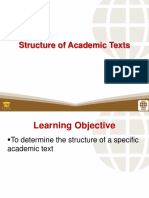 1 Structure of Academic Texts