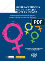 IOM 2015 Estudio Sobre la Situación Laboral de la Mujer Inmigrante. OIM 2015