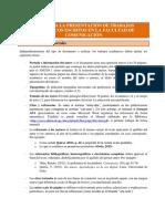 Guía de presentación de trabajos escritos.