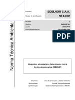 NTA.002 Requisitos de Contratistas Relacionados Con La Gestión Ambiental
