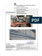 INFORME de RECEPCIÓN TUBERIA y Accesorios de Sistema de Agua Potable.