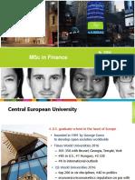 CEU MSc in Finance Presentation