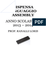 Dispensa Linguaggio Assembly