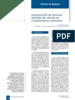 392-116 Comparación de Diversos Métodos de Cálculo en Cristalizadores Continuos