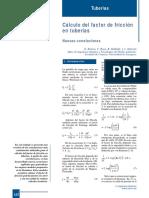 392-122 Cálculo Del Factor de Fricción en Tuberías