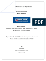 HDFC MBA report