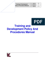 Training and Development Policy and Procedures Manual
