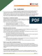 FPV Abortion Procedures Medication