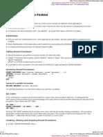Firebird Stored Procedures