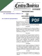 Acuerdo Corte Suprema de Justicia 48-2017. Guatemala REGLAMENTO INTERIOR DE LOS ÓRGANOS JURISDICCIONALES DE TRABAJO Y PREVISIÓN SOCIAL.