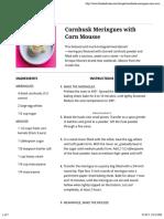 Corn Husk Meringue