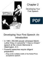 Chapter 2 Developing 1st Speech