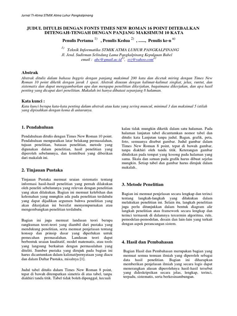 Format Penulisan Jurnal Pdf