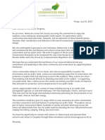 Community Support Letter for Latino Conservation Resolution