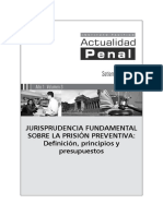 Jurisprudencia Fundamental Sobre Prision Preventiva