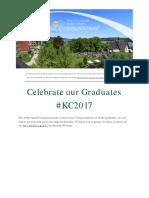 Keuka College Weekly Briefing May 22 - 26
