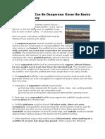 Scaffold Work Handout