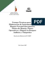 Norma Tecnica Bosques Andinos y Chaquenos