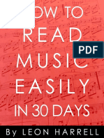 How to Read Music Easily in 30 Days