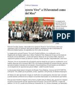 """25/07/17 Reconoce """"Proyecto Vive"""" a ISJuventud como """"Centro Vive Del Mes"""". -Canal Sonora"""