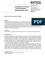 Professional Identities of School Leaders Across International Contexts- An Introduction and Rationale