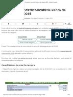 Casos Prácticos de Calculo de Renta de 5ta Categoría 2015