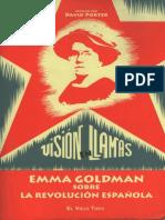 David Porter, Visión en Llamas. Emma Goldman Sobre La Revolución Española