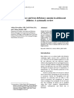 Iron Deficiency and Iron Deficiency Anemia in Adolescen