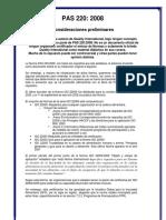 15 - PAS 220 Consideraciones Preliminares