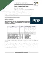 DIR-LMVS-11-2017, Convocatoria Para Pruebas Nacionales Estudiantes