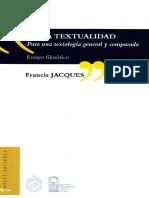 Francis Jacques. de La Tetualidad