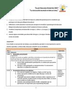 Agenda Taller EBI