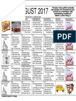 Aaron Manor August 2017 Calendar