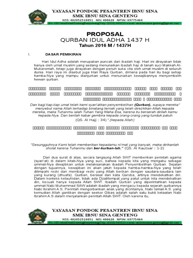 Proposal Idul Adha Doc