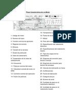 DATOS DE PLACA MOTOR ASINCRONO Control de maquinas