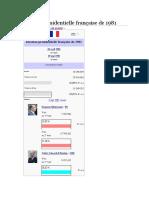 Élection Présidentielle Française de 1981d
