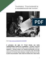 Elisabeth Roudinesco - Freud entendió la voluntad de autodestrucción del hombre