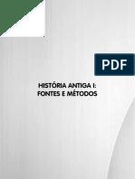 Livro 3. História Antiga I - Fontes e Métodos