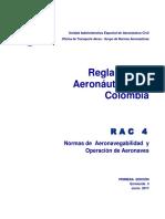 Rac  4   Normas de Aeronavegabilidad y Operación Aeronaves