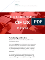 The Golden Age of UX is Over – UX Planet