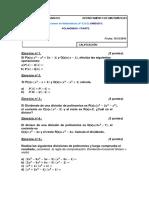 Examen-polinomios 4º Eso