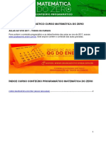 3025Conteúdo Programático - Matemática Do Zero 2017