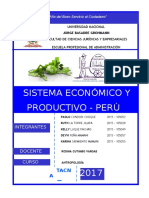 Sistema Economico y Productivo