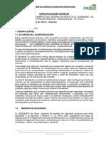 Especificaciones Técnicas Obras Hidráulicas